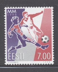 Estonia Sc 341 1998 World Cup Soccer stamp set mint NH