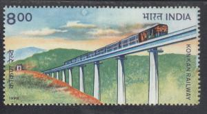 India 1998  # 1689  Konkan Railway    MNH  02205