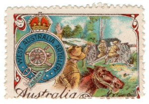 (I.B-CKK) Australia (Great War) Cinderella : WA Artillery (Delandre)