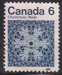Canada 554 Hinged Used 1971 Snowflakes