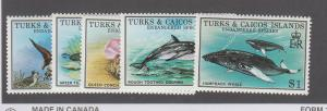 TURKS & CAICOS SCOTT 690-4  VF  MOTOR CYCLES  W SHEET SCOTT $13 BIN @ $3.75