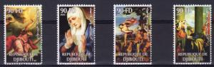 Djibouti 2003 TITIAN (Tiziano Vecellio) Famous Paintings Set Perforated (4) MNH