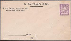 NEW SOUTH WALES QV 1d OHMS envelope - OS in stamp design - unused..........53753