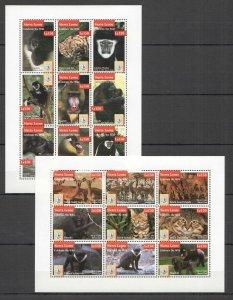 Z0107 SIERRA LEONE ANIMALS FAUNA CELEBRATE THE WILD CATS MONKEYS 2KB MNH