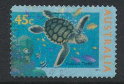 Australia SG 1563a  Used - Turtle - self adhesive