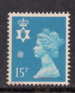 Northern Ireland GB 1989 QE2 15p Bright Blue SG NI 40 ( k64 )