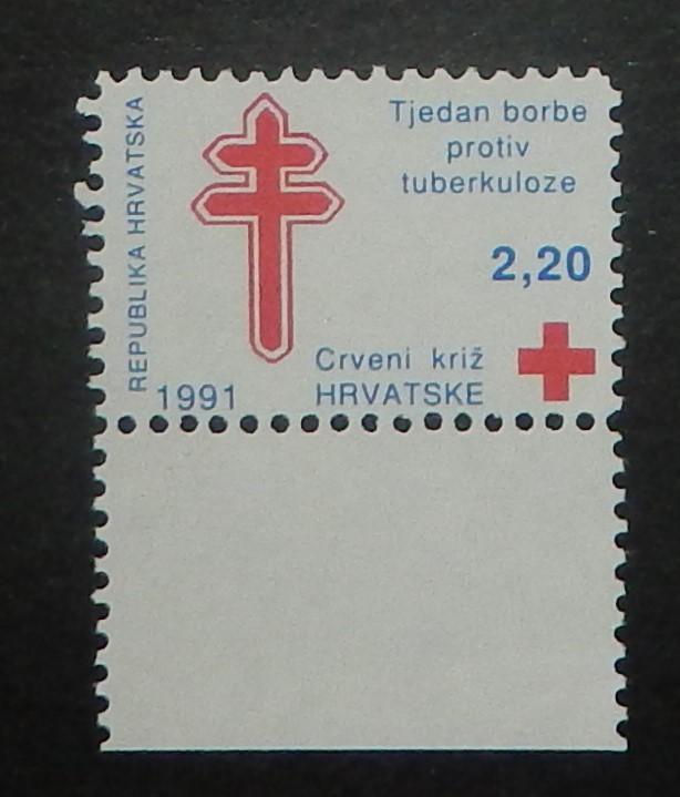 Croatia RA24. 1991 Red Cross, Anti-tuberculosis, NH