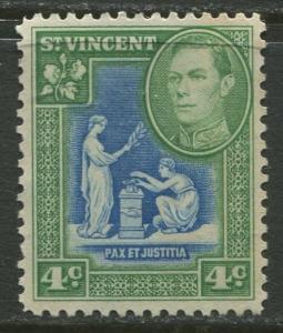 St Vincent - Scott 159 - KGV Definitive -1949 - MNG - Single 4c Stamp