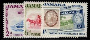 JAMAICA QEII SG178-180, complete set, NH MINT.