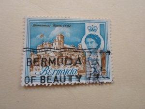 BERMUDA STAMP. USED NO HINGE MARKS ( 3 )