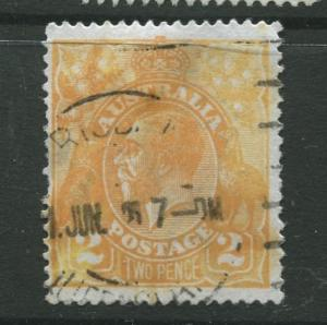 Australia  #27 Used 1920 Single 2p Stamp