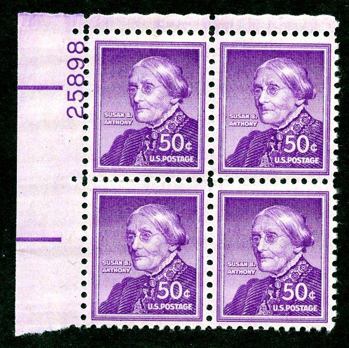 U.S. Scott 1051 VF MNH Plate Block of 4