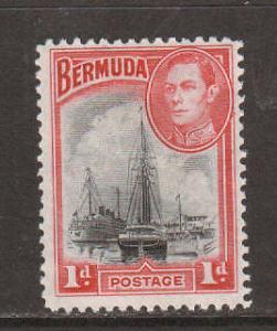 Bermuda Sc 118a MLH. 1940 Hamilton Harbor & KGVI, F-VF