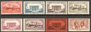 1933-40 Martinique Scott 133-140 Village Gov Pal   MNH number 136 light hinged