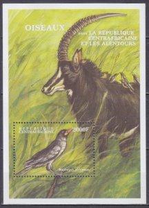2000 Central African Republic 2460/B639 Birds 9,00 €