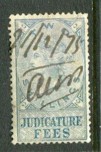 BRITAIN; 1870s early classic QV Revenue issue Judicature Fees 2s. value