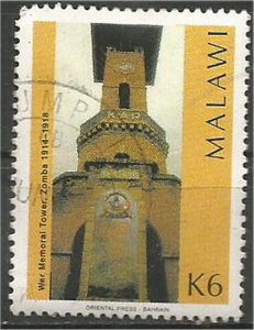 MALAWI 1998 used 6k War Memorial Tower Scott 680