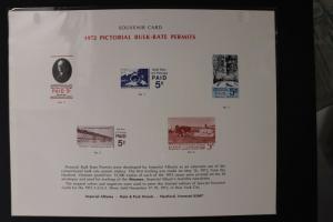 Pictorial Bulk Rate Permit Local Post 1972 VT US reprint Souvenir page card