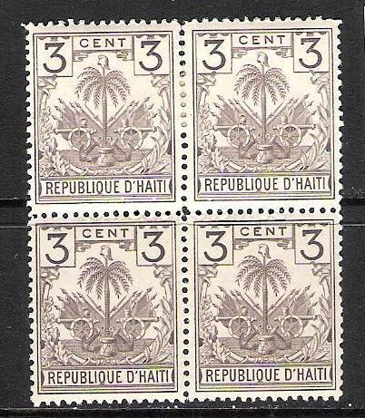 HAITI 40 MOG/MNH BLOCK OF 4 ARMS J614