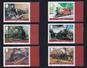 Isle of Man   #1022-1027  MNH    2004   steam locomotives   trains