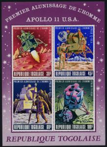 Togo C108a MNH Space, Moon Landing, Apollo 11