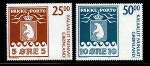 Greenland Sc 463-4 2005 Polar Bear Parcel Post stamp set mint NH