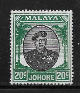 MALAYA - JOHORE, 141, MINT HINGED, SULTAN IBRAHIM