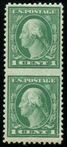 1917 US, 1c Vert Pair Imperf Between Sc 498c