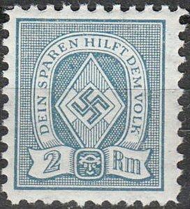 Stamp Germany Revenue WW2 Fascism War Era Sport Folk 020 MNH