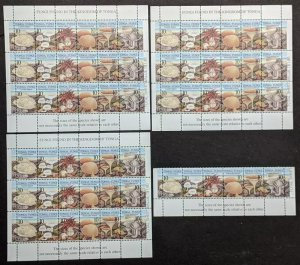 EDW1949SELL : TONGA 1997 Sc #977-79 Mushrooms. 10 Cplt sets. All VF MNH Cat $325