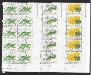 Finland B230-2 Flowers MNH cpl. set x 10 vf, 2022 CV $30.00