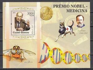 Guinea Bissau, Mi cat. 3192, BL531 A. Medicine Nobel Prize Winners s/sheet.
