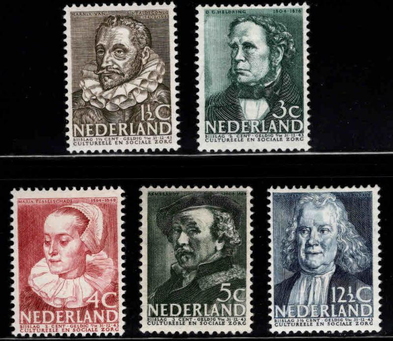 Netherlands Scott MH* B103-B107 semi-postal set