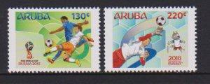 Aruba 2018 WORLD CUP SOCCER 2v MNH