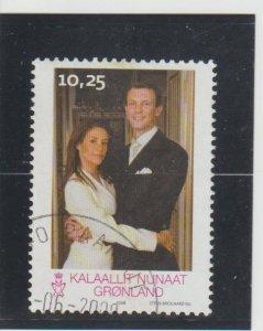 Greenland  Scott#  520  Used  (2008 Royal Wedding)