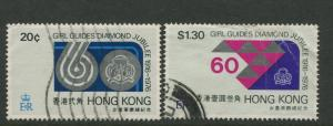 Hong Kong - Scott 328-329 - General Issue - 1976 - FU - Set of 2 Stamps