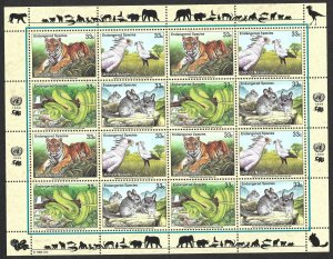 Doyle's_Stamps: 1999 U.N. Endangered Species Sheet Set