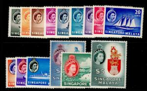 SINGAPORE SG38-52, COMPLETE SET, LH MINT. Cat £130.