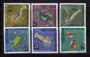 North Vietnam 368-372 Set U Crustaceons (B)