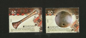 MACEDONIA-MNH** SET-EUROPA CEPT-NATIONAL MUSIC  INSTRUMENTS-2014.