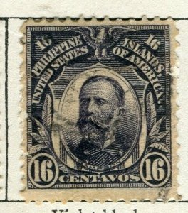 PHILIPPINES; 1908 early Portrait series issue used 16c. value