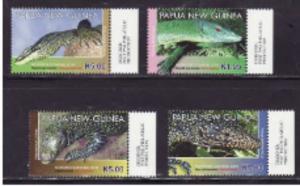 Papua New Guinea - 2011 Lizards - 4 Stamp Set  PNG1103C