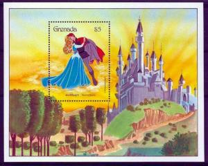 GRENADA - 1987 - DISNEY - SLEEPING BEAUTY - PRINCE - DANCING - MINT MNH S/SHEET!