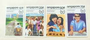 SINGAPORE 1981 YEAR OF DISABLE IN FINE MINT CONDITION.