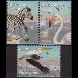 BOTSWANA 2002 - Scott# 763-5 Wetland Fauna 2.5-3.3p NH