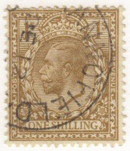 Great Britain #172 used - 1sh king