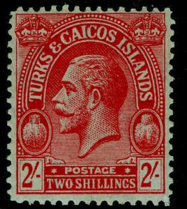 TURKS & CAICOS ISLANDS SG174, 2s red/emerald, LH MINT. Cat £25.