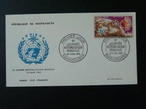 meteorology world day 1965 FDC Upper Volta 74258