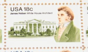 1981 sheet, 18 cent James Hoban, White House Architect Sc# 1935