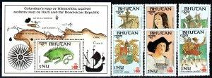 Bhutan #584-9, 596 MNH CV $14.45 (X937)